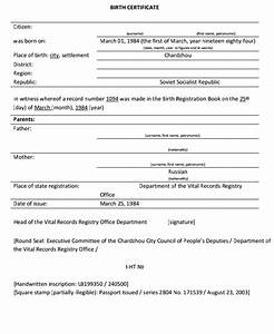 birth certificate translation uscis example templates With translation of mexican birth certificate to english template