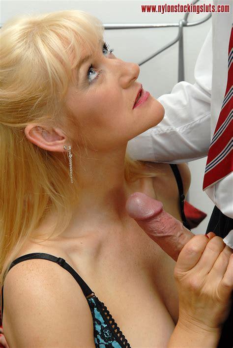 Blonde Mature Cutie In Tight Stockings Forc Xxx Dessert