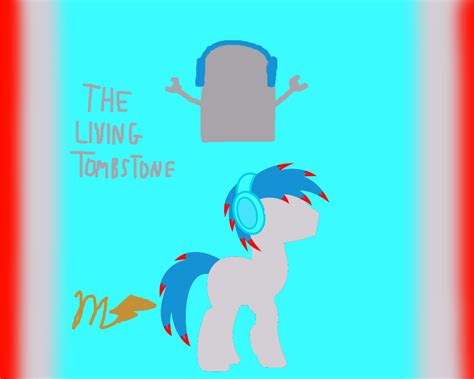 The Living Tombstone Cutie Mark Poster By Sonicdash777 On