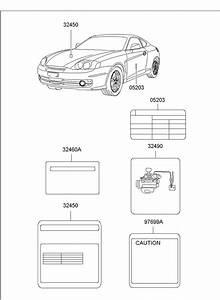 Hyundai Elantra Label - Vacuum Hose Routing  Body