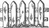 Fence Drawing Wooden Vector Sketch Illustration Drawn Graphics Res Graphic Eps Vectors sketch template