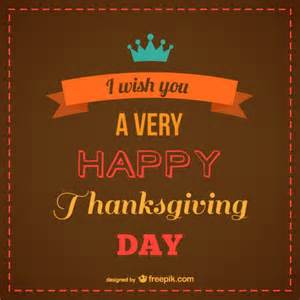 brown happy thanksgiving card vector free