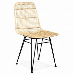 Chaise Rotin Design : chaise en rotin panama chaise design ~ Teatrodelosmanantiales.com Idées de Décoration