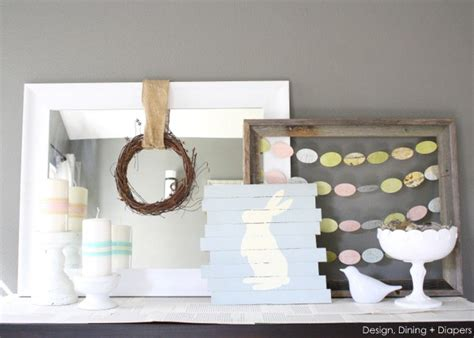 10 cute diy easter mantels the crafting nook by titicrafty