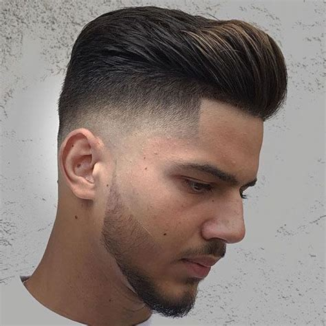 For example, the low fade tapers shorter about an inch above the ear, and can sometimes curve from your sideburns around the ear. 21 Best Pompadour Fade Haircuts (2020 Guide) | Pompadour ...