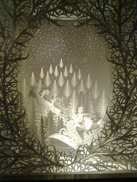 stunning laser cut paper window display laser cut