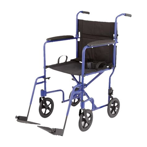 Medline Transport Chair by Medline Aluminum Transport Chair With 8 Inch Wheels