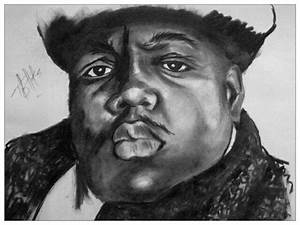 Biggie Smalls Drawing by Kipani Joi Hoskins