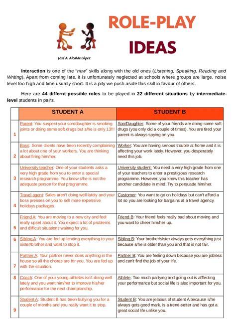 role play ideas