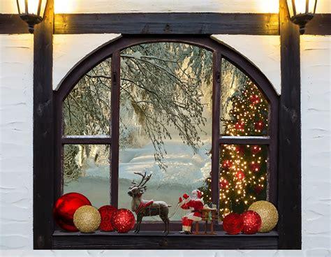 photo christmas christmas tree window  image