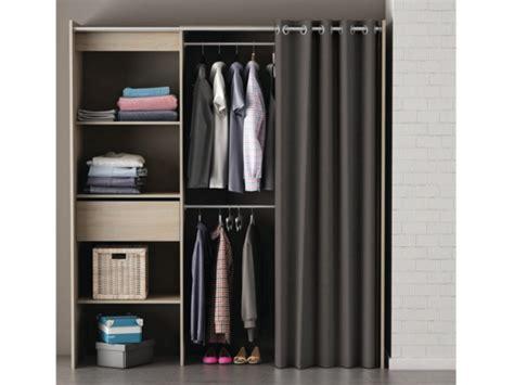 rideau chambre adulte armoire dressing extensible l114 168cm kylian 3 coloris