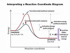 Physical Chemistry - Y-axis Of The Reaction Co-ordinate Graph