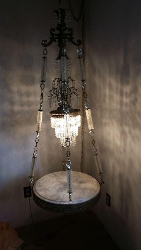 hanging swag l vintage regency swag hanging l light crystals