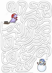 winter maze puzzle free printable puzzle games With house wiring games
