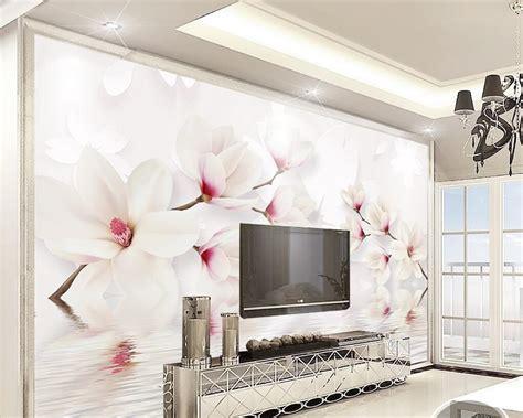 beibehang custom wall murals wallpaper white magnolia