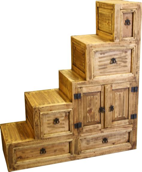 escalera left dresser durango trail rustic furniture