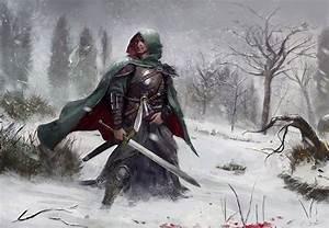 Wallpapers Armor Swords Men Warriors Winter Fantasy Snow ...