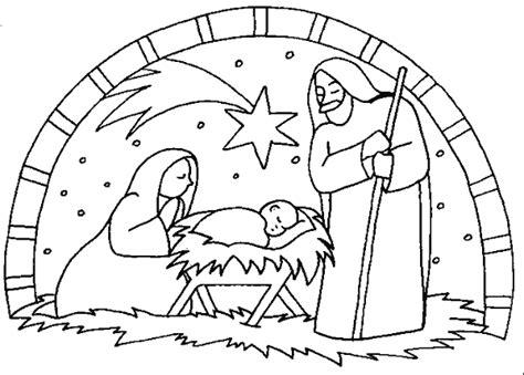 Nativity Coloring Pages For Preschool - Democraciaejustica