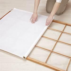 monter une cloison japonaise marie claire With fabriquer porte coulissante japonaise