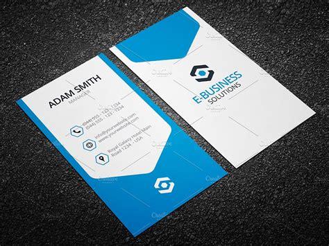 vertical business card template 04 business card templates creative market