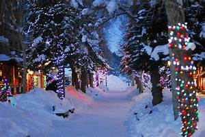 Christmas snow winter light night jen2109 •