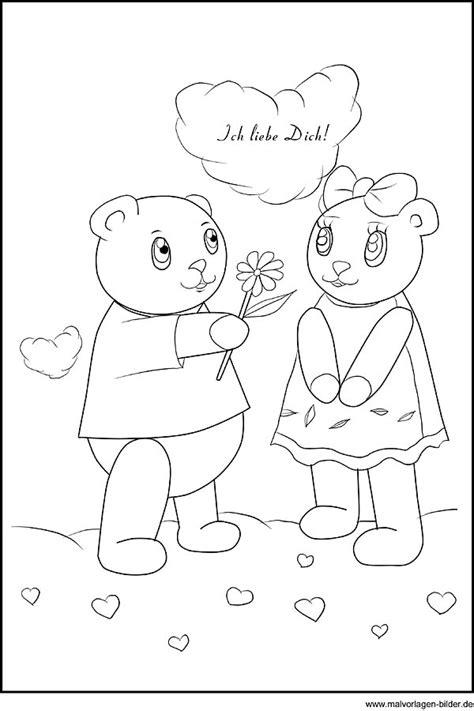 malvorlage zum valentinstag ich liebe dich