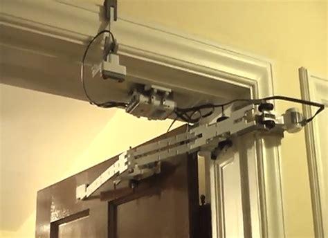 electric door opener kid builds stunning automatic door opener using lego