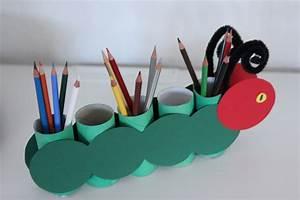 Basteln Mit Papierrollen : stiftehalter basteln mit kindern aus klopapierrollen raupe nimmersatt ~ Buech-reservation.com Haus und Dekorationen