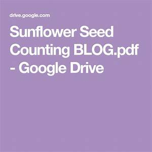 Sunflower Seed Counting Blog Pdf