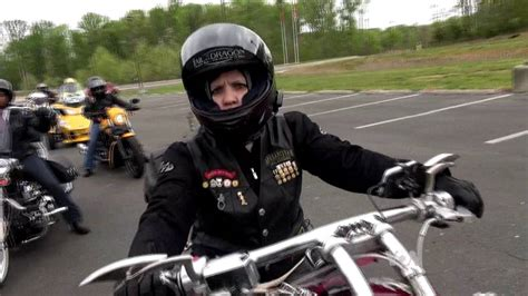 Woman Motorcycle Riders Tear Up The Road