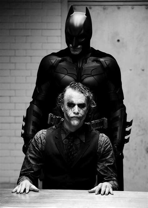 Christian Bale Heath Ledger Batman The Joker