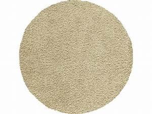 Tapis rond d120 cm shaggy coloris beige vente de tapis for Conforama tapis rond