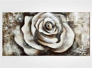 Tableau Rose Et Gris : tableau contemporain rose blanche ~ Teatrodelosmanantiales.com Idées de Décoration