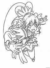 Glitter Force Coloring Precure Doki Cure Heart Printable Pretty Anime Para Entitlementtrap Pintar Dibujos Colorear Template Popular Artículo sketch template