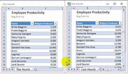 Excel Compare Side Sheets Using Tip Sample