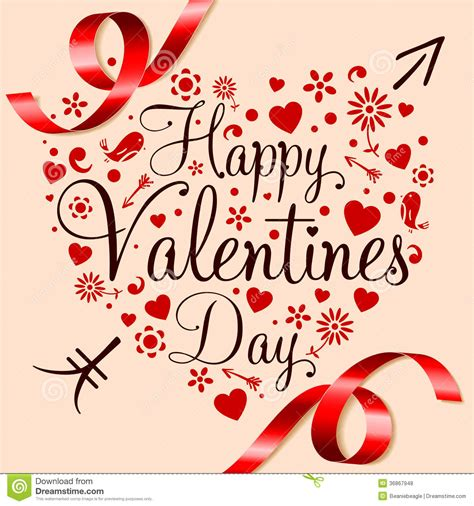 Happy Valentines Day stock vector. Illustration of ...