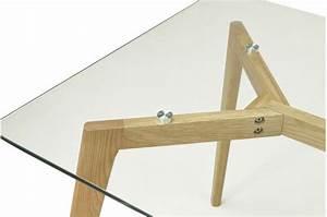 Table Plateau Verre Pied Bois : table verre pied bois maison design ~ Melissatoandfro.com Idées de Décoration