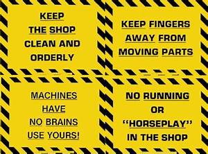 """Plastic Laminated Safety Sign - """"Machines Have No Brains"""