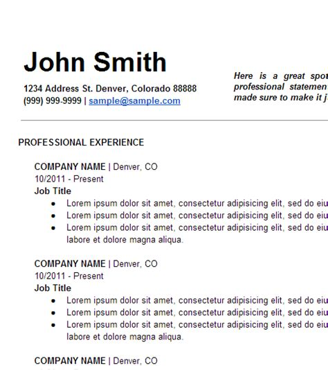 free your resume three free simple resume templates
