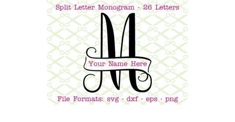 banner split monogram svg cricut silhouette files svg