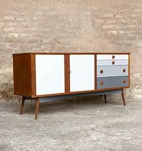 Meuble Scandinave Vintage : meuble buffet enfilade vintage scandinave en teck relook ~ Teatrodelosmanantiales.com Idées de Décoration