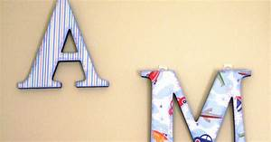 americkim39s home children39s wall letters With finished wooden letters