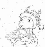 Llama Coloring Printable Pajama Pajamas Gifts Drama Sheets Printables Holiday Cn Tower Frozen Template Coloringhome Getcolorings Hedgehog Pdf sketch template