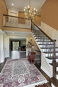 Beautiful, Traditional, Foyer, Design, With, Stunning, Oriental