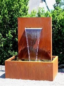 Gartenbrunnen Aus Cortenstahl : wasserspiel cortenstahl wasserfall l30cm gartenbrunnen ~ Sanjose-hotels-ca.com Haus und Dekorationen