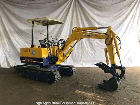 mitsubishi ms mini excavator  hydraulic thumb  sale  united states