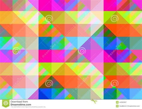 abstract geometric background with colorful tiles stock
