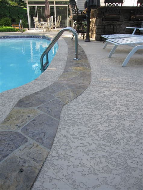 Resurface Pool Deck With Pavers by Pool Deck Sundek Classic Texture With Sted Overlay
