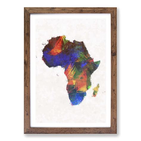 Frequently bought together + total price: Map of the Continent of Africa in Abstract Wall Art Framed ...