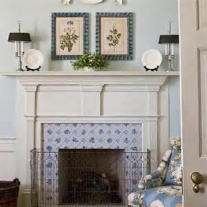 Delft Tile Fireplace Surround